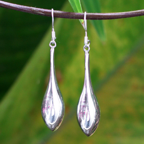 Sterling Silver Dangle Earrings 'Dewdrops'