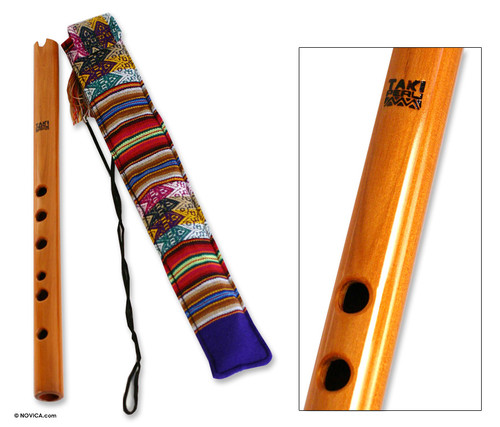 Hand Crafted Wood Quena Flute 'Andean Song'