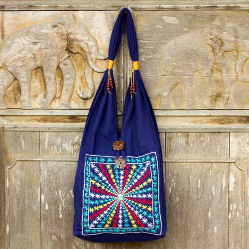Cotton handbag 'Star Shine'