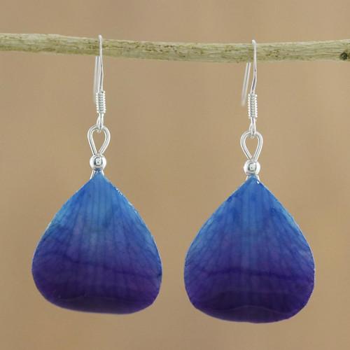 Orchid Petal Earrings 'Twilight'