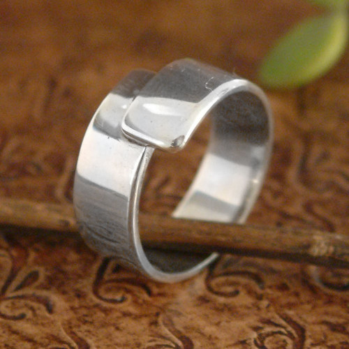 Sterling Silver Handcrafted Ring 'Take My Hand'