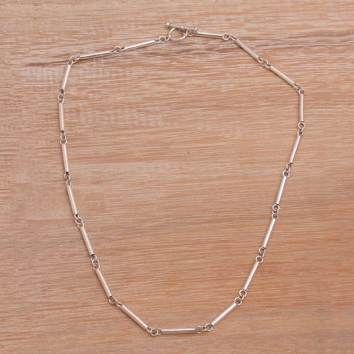 Sterling Silver Necklace from Indonesia 'Driftwood'