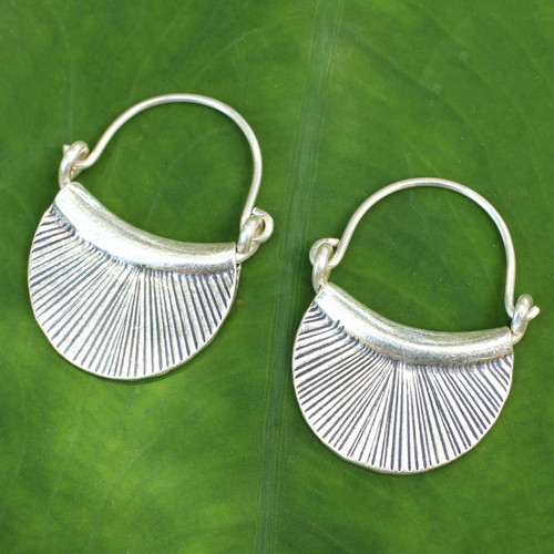 Silver Hoop Earrings 'Diva'