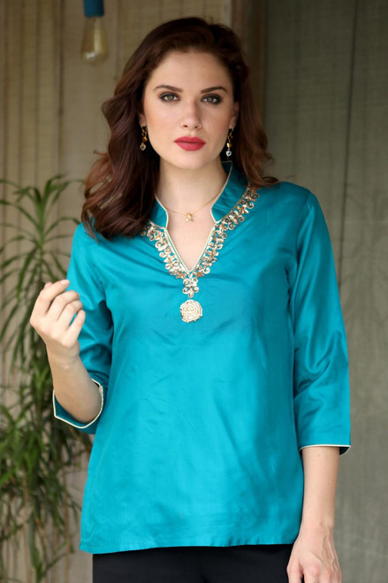 Silk tunic 'Royal Touch'