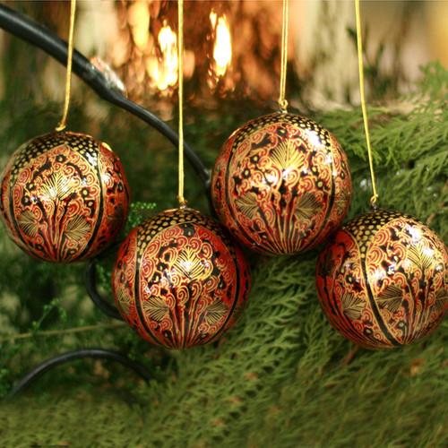 Ornaments (Set of 4) 'Lavish Celebrations '