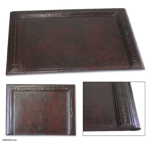 Leather Desk Pad 'African Legacy'