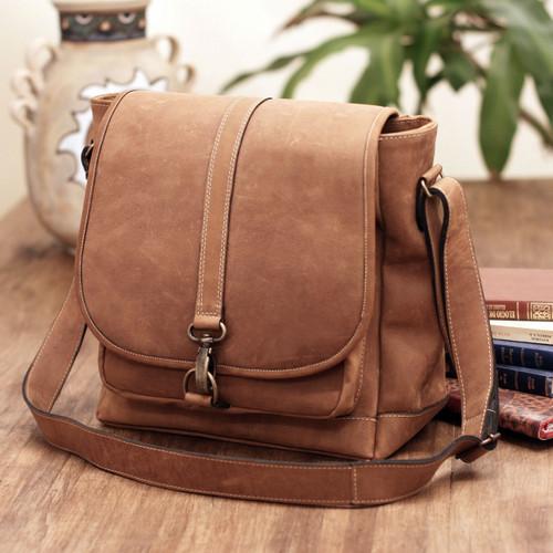 Mexican Leather Shoulder Bag  'Crazy Summer'