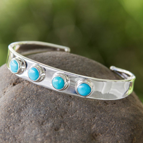 Turquoise Taxco Cuff Bracelet 'Song of the Sky'