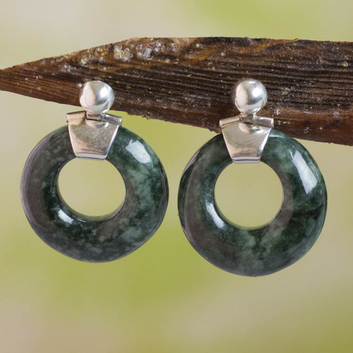 Jade Dangle Earrings 'Endless Love'
