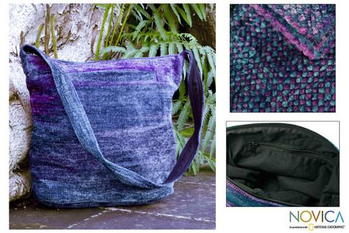 Bamboo Chenille Bag Handmade in Guatemala 'Magical Moon'