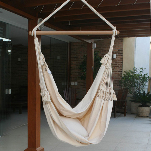 Cotton Swing Hammock from Brazil 'Life's a Balance'