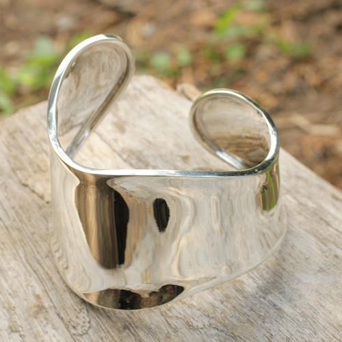 Sterling Silver Cuff Bracelet 'Graceful'