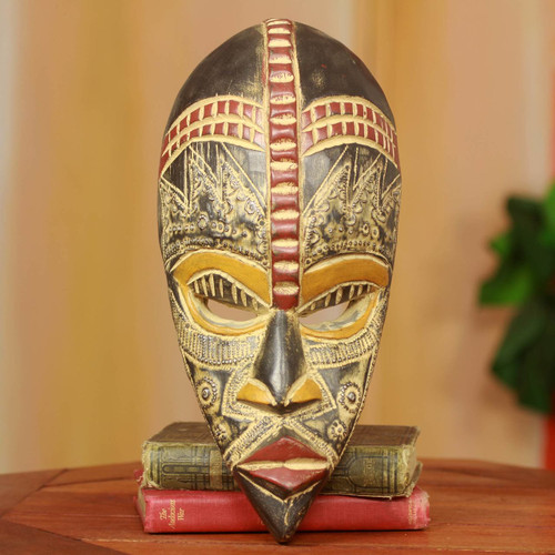 Handcrafted Nigerian Wood Mask 'My Beautiful Lover'