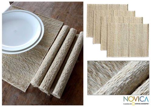 Natural Fiber Placemats (Set of 4) 'Nature's Truth'