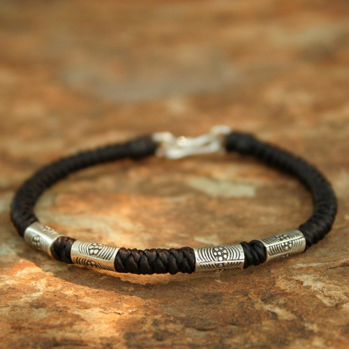 Artisan Crafted Silver Bracelet 'Hill Tribe Belle'