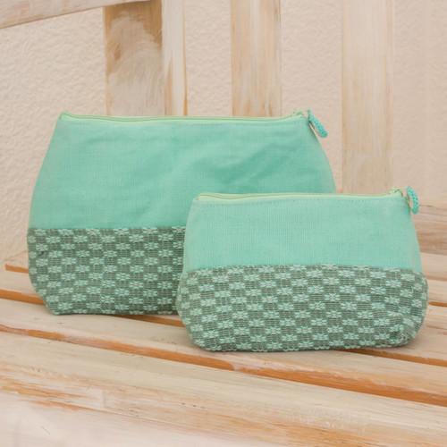 Fair Trade Floral Cosmetic Bags (Pair) 'Spring Blooms'