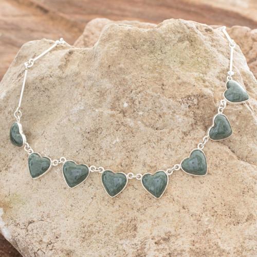 Jade heart necklace 'Love Immemorial'