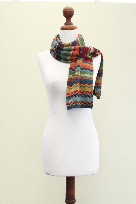 Women's Alpaca Wool Scarf 'Fresh Winter'