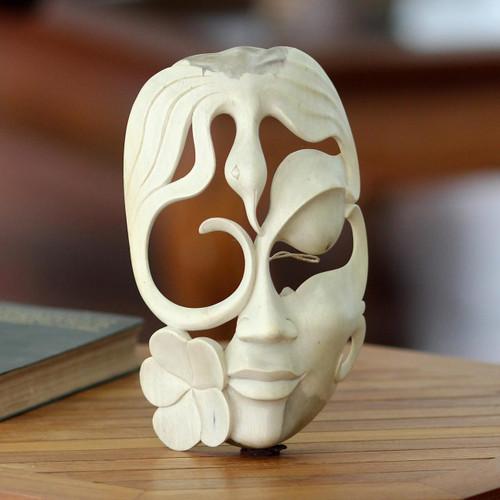 Fair Trade Wood Bird Mask 'Quest of the Ibis'