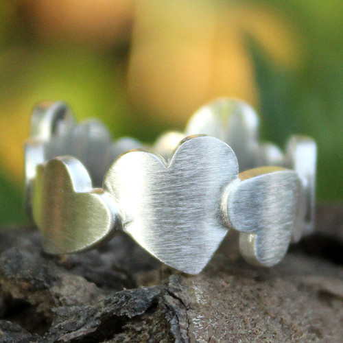 Sterling Silver Heart Ring 'Much Love'