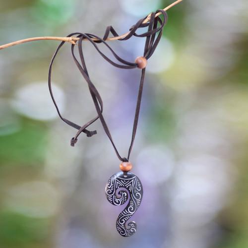 Cow Bone Pendant Necklace 'Hot Soul'