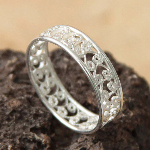 Sterling Silver Filigree Ring from Peru 'Royal Filigree'