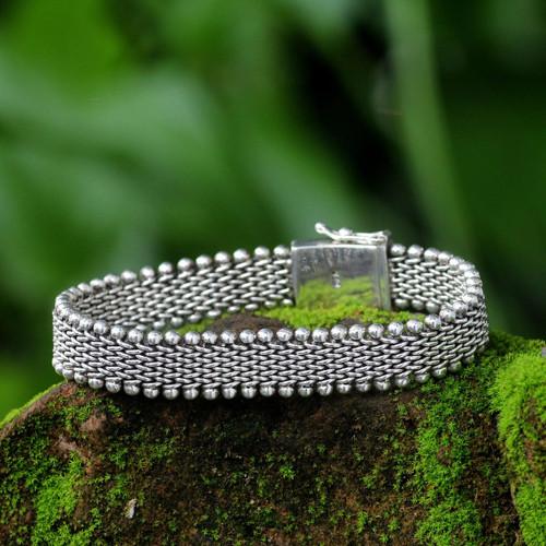Men's Sterling Silver Chain Bracelet 'The Hero'