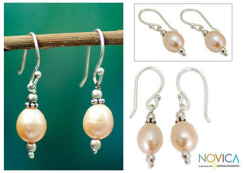 Pearl dangle earrings 'Dawn Destiny'