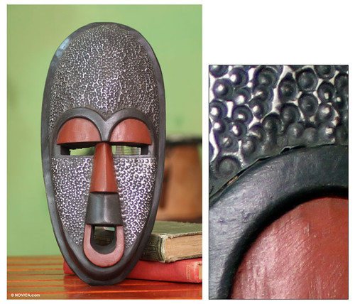 African Wood Wall Mask 'Detector of Evil'