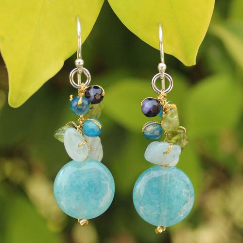 Handmade Thai Dangle Earrings 'Thai Joy'