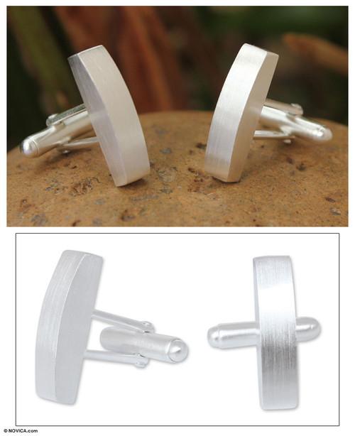 Modern Sterling Silver Cufflinks 'Minimalism'