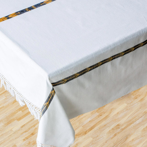 Cotton tablecloth 'Maya Cloud'
