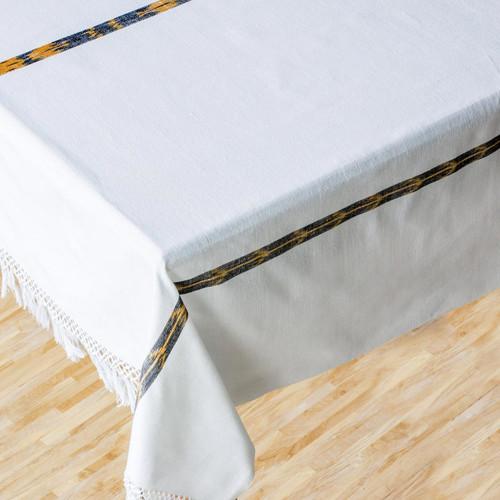 Cotton tablecloth 'Maya Cloud'