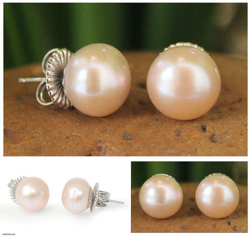 Hand Made Pearl Earrings 'Dawn Serenade'