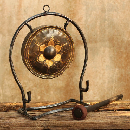 Iron and brass gong (Large) 'Thai Harmony'