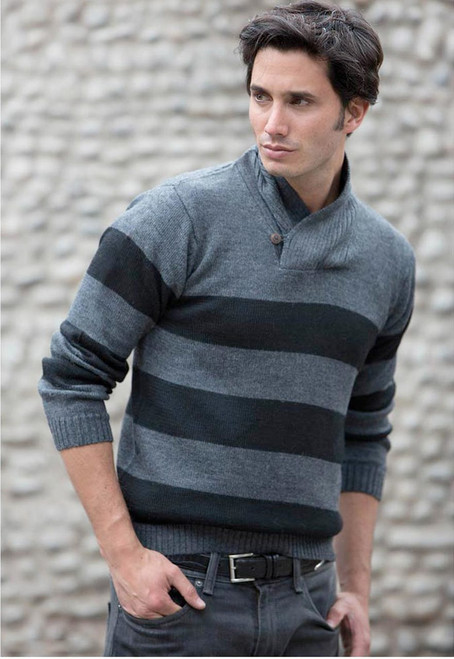 Cortijo Men's Alpaca Wool Pullover Sweater 'Cortijo Man in Black'