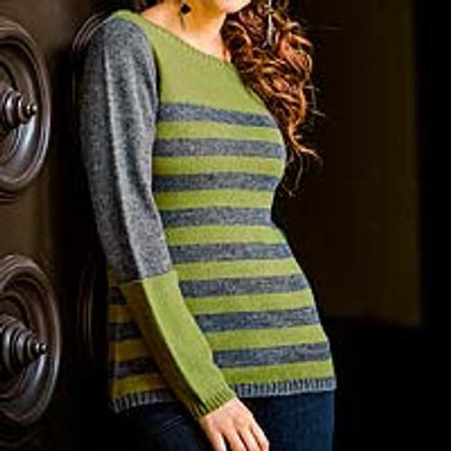 Alpaca Blend Striped Pullover Sweater 'Arequipa Elegance'