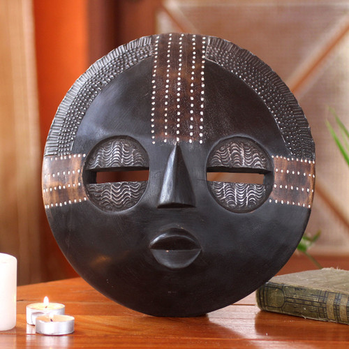 African wood mask 'Kokobene Luck'