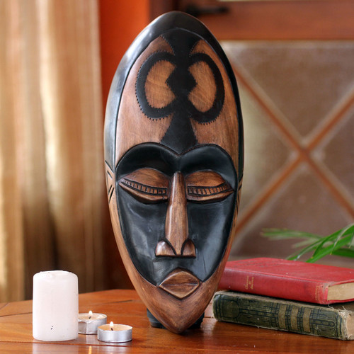 African wood mask 'Beauty and Faith'