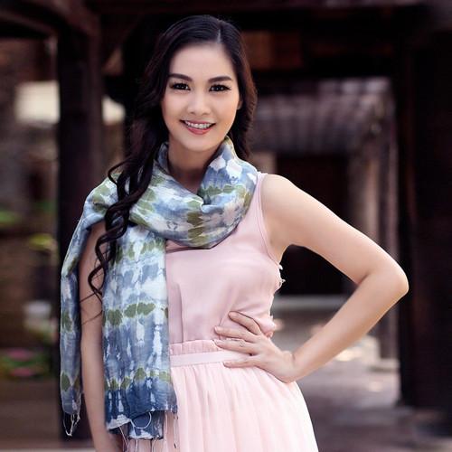 Hand Made Thai Silk Scarf 'Mist Illusion'