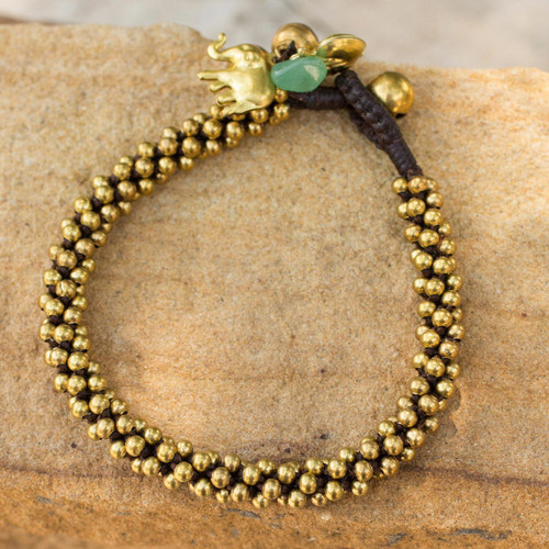 Brass beaded bracelet 'Northern Chic'