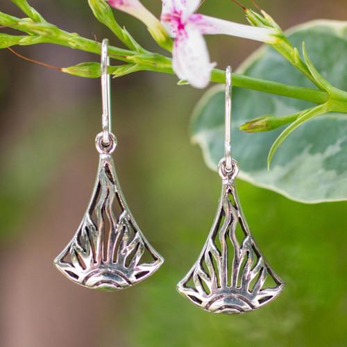Sterling silver dangle earrings 'Sunrise in Thailand'
