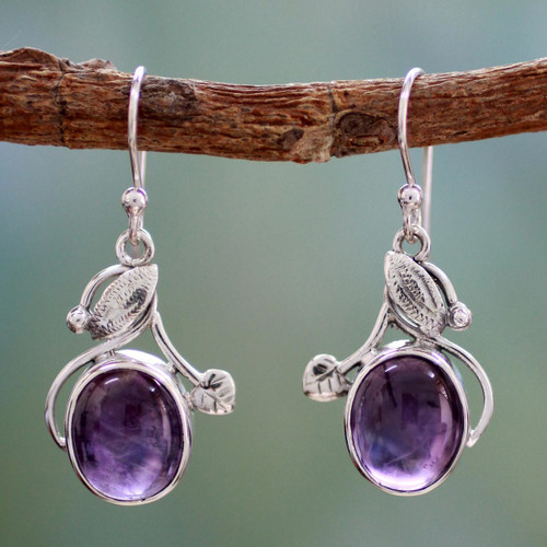 Amethyst dangle earrings 'Impassioned Plum'