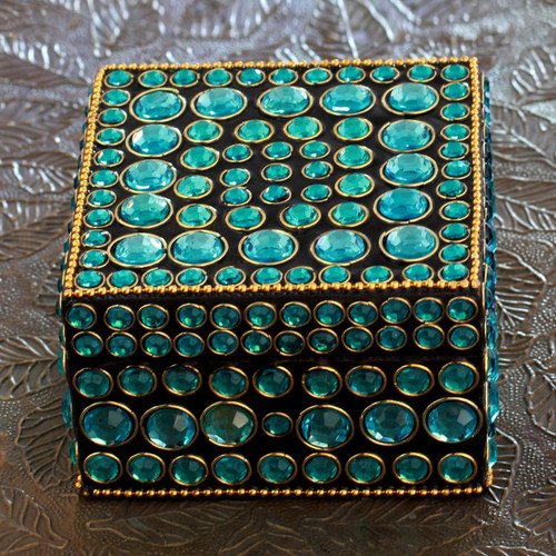 Bejeweled box 'Aqua Glitz'