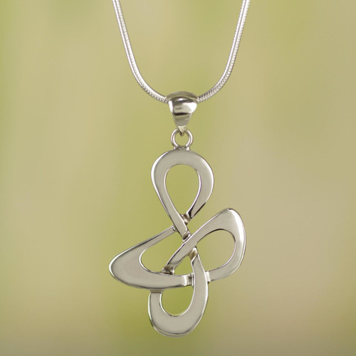 Fair Trade Sterling Silver Modern Necklace 'Freedom Song'
