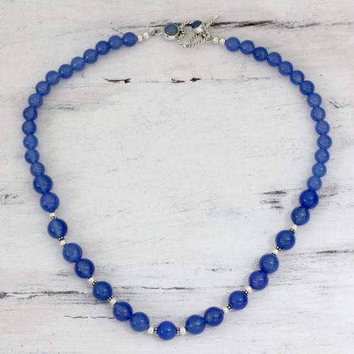 Blue Chalcedony Necklace 'Heavenly Sky'