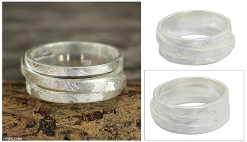 Band Ring Sterling Silver Thai Jewelry 'Illusions'