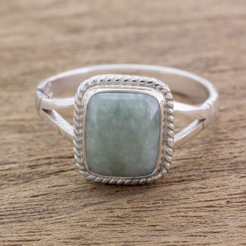 Jade Jewelry Artisan Crafted Ring 'Life Divine'