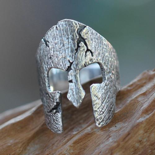 Original Sterling Silver Band Ring for Men 'Gladiator'