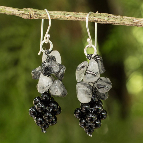 Handmade Gemstone Cluster Earrings 'Heavenly Gift'